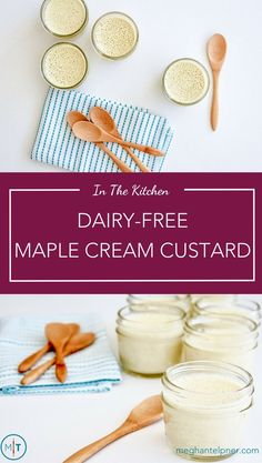 Dairy-Free Maple Cream Custard Recipe: Great Postpartum Snack