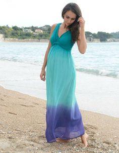 be0193cf84974 Ombre dip dye dress   Seraphine Beautiful Maternity Dresses, Stylish  Maternity, Stylish Pregnancy,