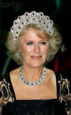 Photoshopped image - this tiara doesn't exist, but could well be a photoshop creation based on the huge ruby necklace Camilla was gifted a few years ago.
