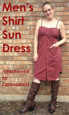 Men's Shirt Sun Dress -