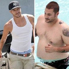 Kevin Federline---K-Fed used to be Britney's backup dancer, and got famous when the two were shortly married. It's hard to tell what this guy has got working for him now, since clearly dancing isn't something he might still be good at. Seems he's left mostly with a serious overweight.