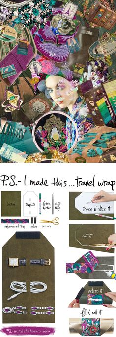 Leather Tech Travel Wrap | P.S. I Made This (with template)