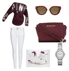 """""""Maroon 6's late edition"""" by trinitisimmons on Polyvore featuring Victoria's Secret, Burberry, CÉLINE, MICHAEL Michael Kors and Michael Kors"""
