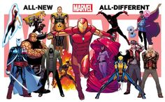 Arte promocional de All-New, All-Different Marvel Universe.