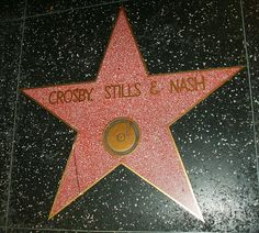 Hollywood Star on Hollywood Walk of Fame - Musicians - band members Crosby, Stills