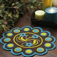 free penny rug pattern - Google Search