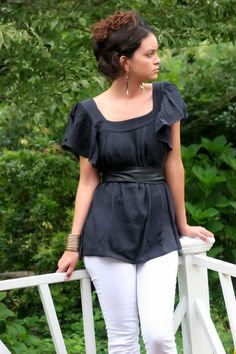 Organic Black Butterfly Sleeve TunicFair TradeReady by MyFairLabel, $48.00