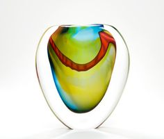 Large Highlight Stoneform By Peter Layton -       London GlassBlowing<3<3<3GORGEOUS<3<3<3
