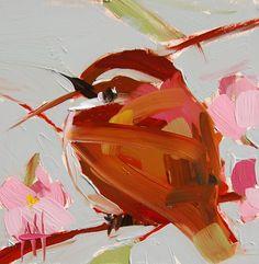 Carolina Wren no. 55 original bird oil painting by Angela Moulton 5 x 5 inch on panel pre-order by prattcreekart on Etsy