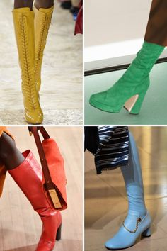 From platform heels to lace-up shoes and heeled loafers, these are the 7 biggest shoe trends of Toe Ring Sandals, Sexy Sandals, White Sandals, Crocs Boots, Shoe Boots, Heeled Loafers, Leather Loafers, Shoes Too Big, Fresh Shoes