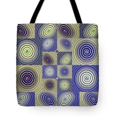 Spiral Design 2 Tote Bag  http://fineartamerica.com/products/spiral-design-2-sarah-loft-tote-b..  #totebags #sarahloft #digitalart #digital #abstract