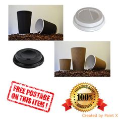 Kraft ripple #triple wall hot drink paper #disposable cups tea coffee,lids #premi,  View more on the LINK: 	http://www.zeppy.io/product/gb/2/111992555274/