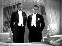 Fredric March & Gary Cooper in Design for Living 1933