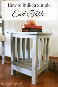 Vintage Decor Diy How to Build a Simple Mission Style End Table - DIY Side Table Plans: This little end table is a perfect fit for tight spaces and would even make a great plant stand too! Diy End Tables, Wood End Tables, Diy Table, Coffee Tables, Bedside Tables, Pallet Tables, Diy Furniture Plans Wood Projects, Cool Furniture, Furniture Outlet