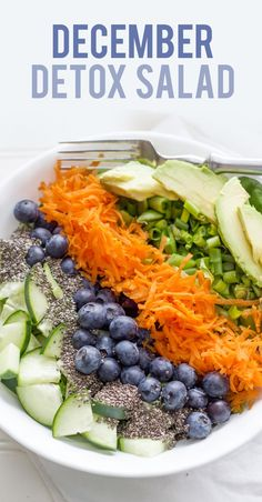 December Detox Salad — I don't believe in food detoxing the body, but this salad looks good anyway.