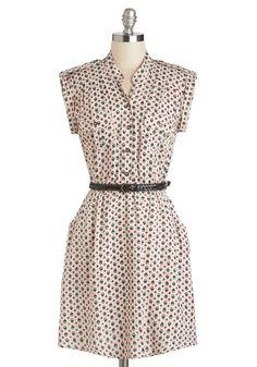 Hoot as a Button Up Dress   Mod Retro Vintage Dresses   ModCloth.com
