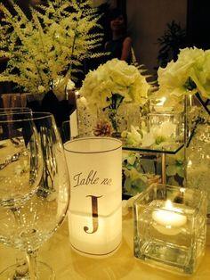 キャンドル テーブルナンバー 白 candle table number white