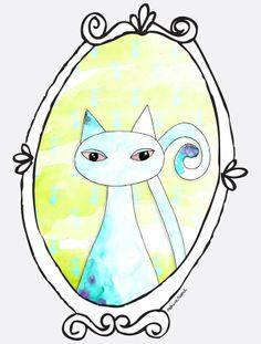 O Retrato do Gato by Patricia Sodré, via Behance