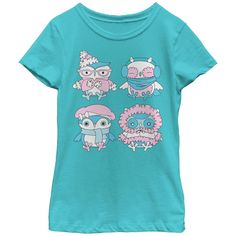 Don't worry about the cold! Owl you need is some cozy scarves, hats, and winter coats on the Lost Gods Cozy Owls Turquoise T-Shirt. Four adorable owls are bundled up against the cold in their fluffy winter gear across this turquoise shirt. 100% Cotton. Printed in the U.S.A. Printed With Eco-Friendly Inks Machine Washable Fifth Sun Fashionable Slim-Fit Winter Gear, Winter Coats, Turquoise Shirt, Owl T Shirt, Cozy Scarf, Apparel Design, Owls, Lost, Tahiti