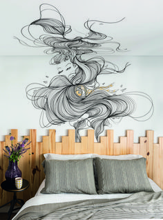 parede-do-quarto-decorada-com-grafite
