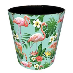 Flamingo Trash Can,Haoun British Style Flamingo Pattern T...