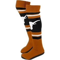Order a Texas Longhorns Women's Knit Knee Slipper Socks - Burnt Orange/Black from the Official Big 12 Store and get shipping on every order. College Football, Ut Football, Texas Longhorns Football, Ut Longhorns, Football Socks, Hook Em Horns, Knit Boots, University Of Texas, Slipper Boots
