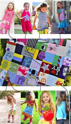 Tutorial: Make a memory quilt! This one was made from my daughter's dresses (t-shirt material). #diy #tutorial
