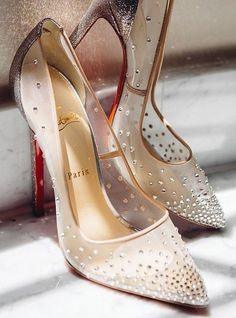 oh beautiful sheer embellished louboutins <3