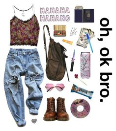 Go your own way by cosmichippie on Polyvore featuring polyvore, fashion, style, Collette Dinnigan, Levi's, Dr. Martens, Royce Leather, Burt's Bees, Lauren Ralph Lauren, women's clothing, women's fashion, women, female, woman, misses, juniors, croptop and boho