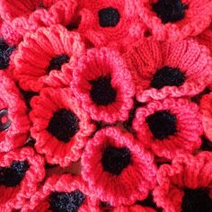 Today was our first workshop in Voluntary Arts Week and we were celebrating getting creative in the Community Room at the Tesco Store, T. Knitted Poppies, Big Knits, Remembrance Day, Stuff To Do, Red And White, Insects, Park, Creative, Flowers