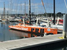open 60 PRB from Vincent Riou winner of the Rolex Fastnet Race 2015  in IMOCA class