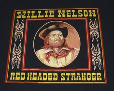 Willie Nelson Red Headed Stranger T-Shirt Late 80s Size XL Two-sided RARE