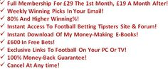 Football Betting Tipsters - World's Best Football Tips & Predictions - Pro Football Bets #football_tipsters #football_betting #betting_tips #football_tipster #football_betting_tips