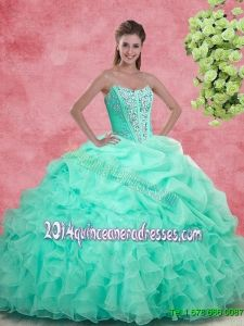 4dc6c6556c0 2016 Spring Luxurious Apple Green Quinceanera Gowns with Beading and Ruffles.  Quinceanera Dress