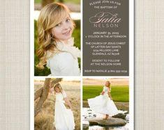 lds baptism announcement / invitation