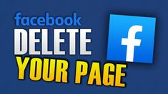 HOW TO DELETE FACEBOOK PAGE Delete Facebook, Names, Technology, Videos, Tips, Youtube, Android, Iphone