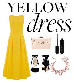 """""""yellow"""" by foxtheimer on Polyvore featuring Warehouse, Nine West, BCBGMAXAZRIA, Thalia Sodi and Marc Jacobs"""