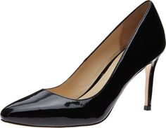 Cole Haan Women's Bethany Pump 85 Black Patent Pump 7 2A - Narrow. This classic leather dress shoe with an almond toe, 3 1/2-inch heel, and fully padded leather sock lining will take you everywhere you need to go in style. Part of our ZeroGrand collection -- classic styling infused with modern technology for greater flexibility, reduced weight, and increased cushioning. Advanced plastics replace traditional heavy steel shank supports to provide the same stability in a shoe that's...