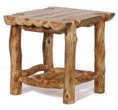 Aspen Ridge Half-Log End Table
