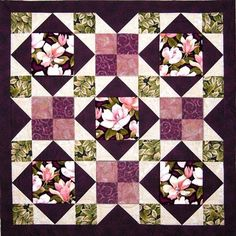 Use one of Annie's quick and easy bed quilt pattern and you will have a beautiful new bed quilt in no time! Find bed quilt patterns and supplies at Annie's! - Page 1 Big Block Quilts, Lap Quilts, Panel Quilts, Quilting Projects, Quilting Designs, Embroidery Designs, Bed Quilt Patterns, No Waste, Flower Quilts