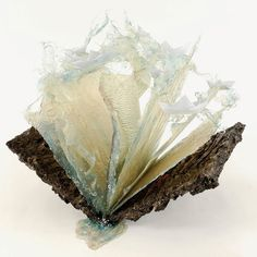 "Annalù - Aqua I, 2010. Other book-sculptures by Annalù in ""Sculptures II"" board!"
