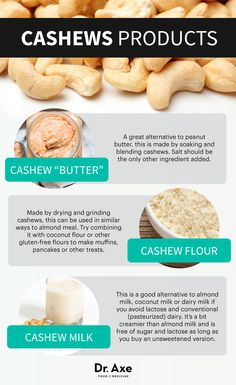 Types of cashews products - Dr. Axe http://www.draxe.com #health #holistic #natural