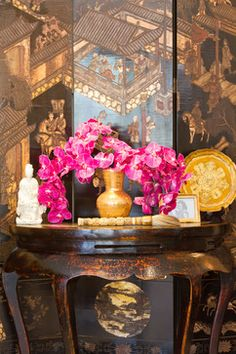 French Colonial Living Room - traditional - spaces - los angeles - Charmean Neithart Interiors, LLC.