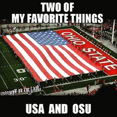 They are my two favorite things too. Ohio State Football Jerseys, Ohio State Gear, Ohio Stadium, College Football Teams, Ohio State University, State College, Sports Teams, The Buckeye State, Ohio State Buckeyes