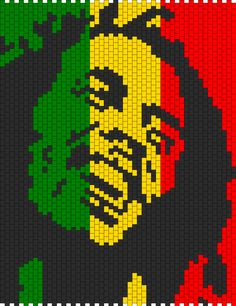 AWESOME,IM DEF GOING TO TRY THIS ONE..... Bob Marley 2 bead pattern
