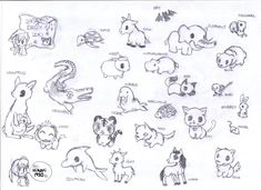 cute animal sketches - Ronni kaptanband co