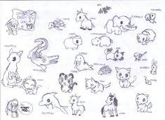 Anime Animal Drawings Easy Cute Animals By Crimsonangelofshadow