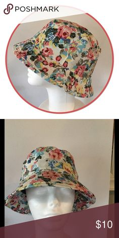 Pastel Floral Bucket Hat, NWOT Pretty pastel floral bucket hat, 100% Cotton. Price firm unless bundled Boutique Accessories Hats