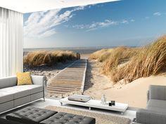 Windswept Beach Boardwalk wall mural living room preview
