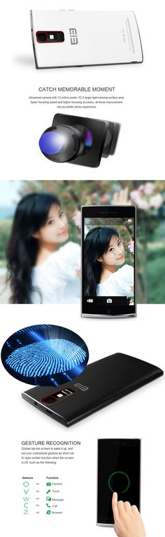 "Pre-sale Elephone G6 5.0"" Smartphone HD 1280x720 Android 4.4.2 MTK6592 Octa Core 1.7GHz 1GB RAM 8GB ROM 13MP Fingerprint Recognition Hall Sensing Gesture Sensing (White)"